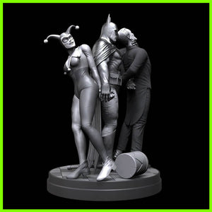 Batman Interrupted - STL File for 3D Print - indymodel88