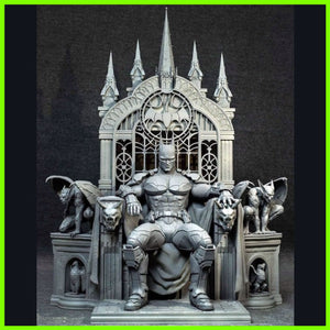 Batman on Throne - STL File for 3D Print - indymodel88