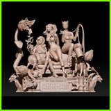 Catwoman Harley Quinn Poison Ivy Diorama - STL File for 3D Print - indymodel88