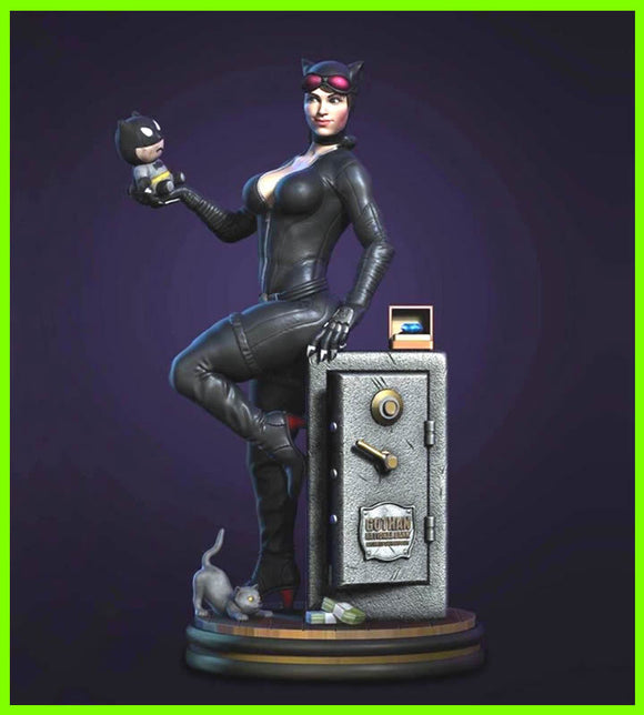 Catwoman Washed - STL File for 3D Print - indymodel88