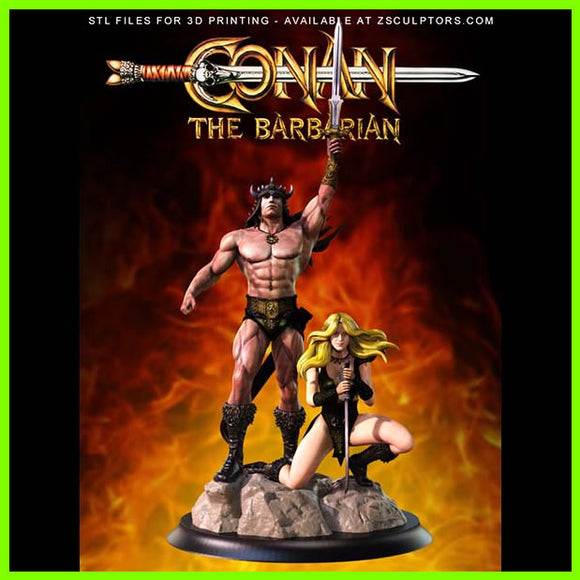 Conan The Barbarian - STL File for 3D Print - indymodel88