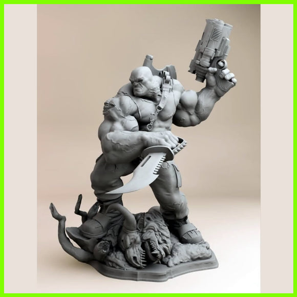 El Cazador The Hunter - STL File for 3D Print - indymodel88