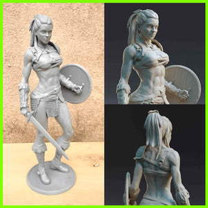 Sexy Female Gladiator - STL File for 3D Print - indymodel88