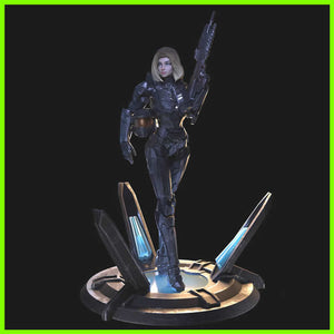 Female Spartan Halo - STL File for 3D Print - indymodel88