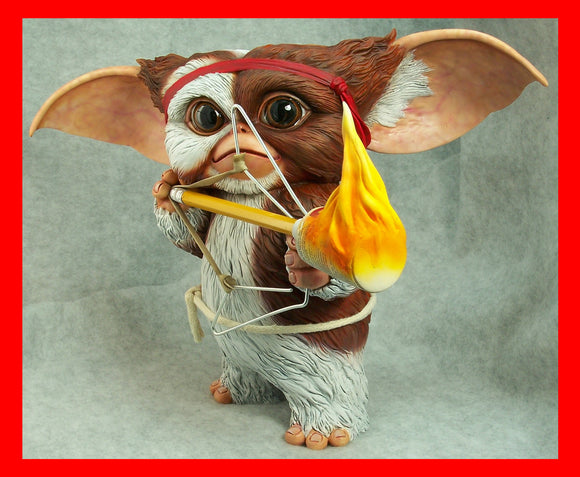 Gizmo Gremlins as Rambo Life Size 1/1 resin model kit figures - indymodel88