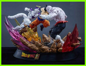 Goku & Freezer VS Jiren - STL File for 3D Print - indymodel88