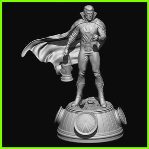 Green Lantern Alan Scott - STL File for 3D Print - indymodel88