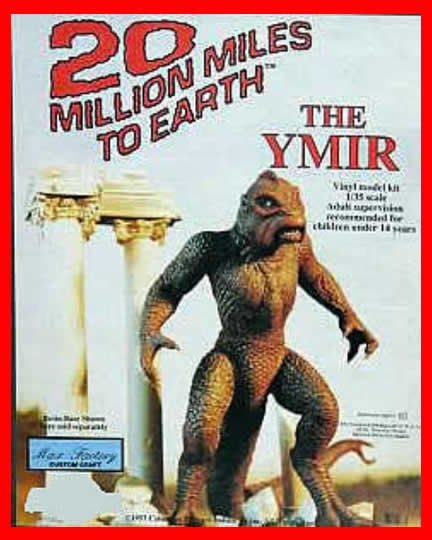 Ymir 20 Million Miles to Earth 1/35 vinyl model kit figures - indymodel88