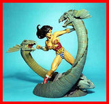 Wonder Woman vs 3 Heads Dragon 1/8 resin model kit figures - indymodel88