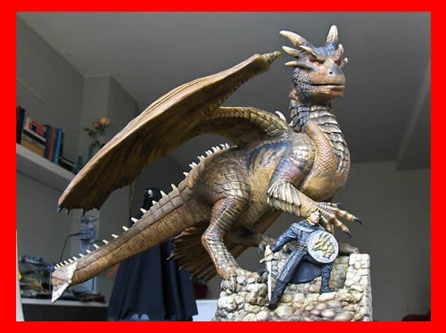 Draco the Dragonheart vinyl model kit figures - indymodel88