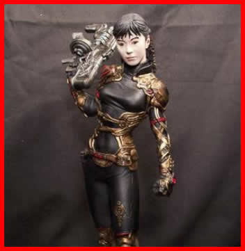 Zeiram Bounty Hunter Iria 1/6 vinyl model kit figures - indymodel88