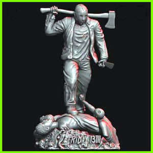Jason Vorhees - STL File for 3D Print - indymodel88