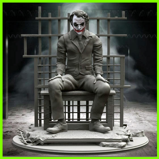 Joker in Prison - STL File for 3D Print - indymodel88