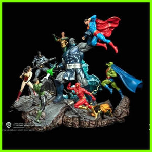 Darkseid War Justice League vs Darkseid Diorama - STL File for 3D Print - indymodel88