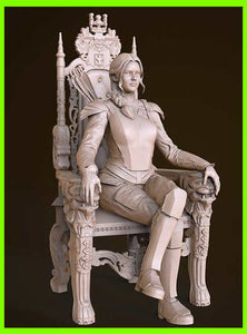 Katniss Everdeen The Hunger Games - STL File for 3D Print - indymodel88