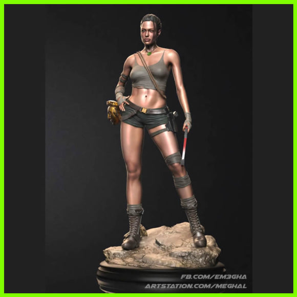 Lara Croft Tomb Raider Angelina Jolie - STL File for 3D Print - indymodel88