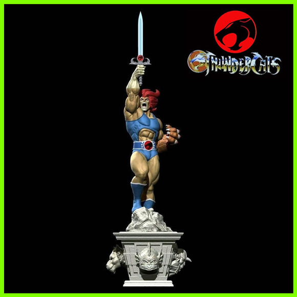 Lion-O ThunderCats Statue - STL File for 3D Print - indymodel88