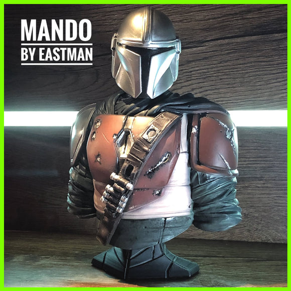 The Mandalorian Bust - STL File for 3D Print - indymodel88