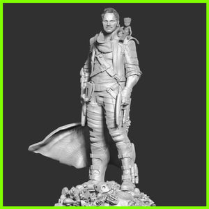Peter Quill Star Lord Statue - STL File for 3D Print - indymodel88