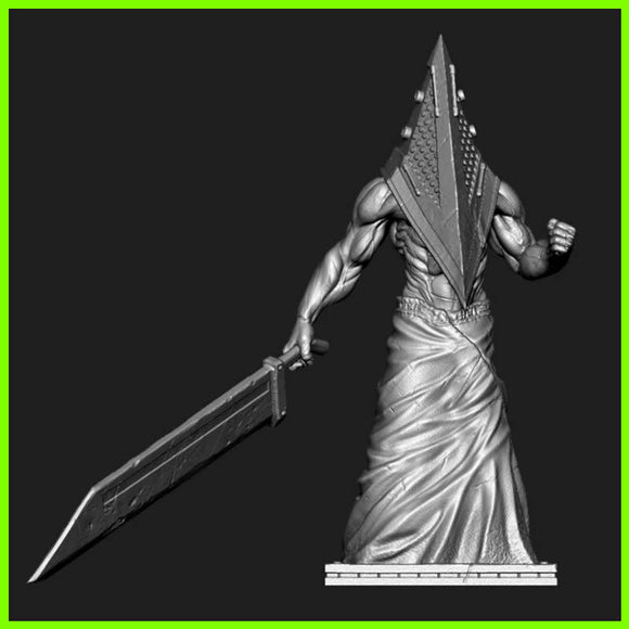 Pyramid Head Silent Hill - STL File for 3D Print - indymodel88
