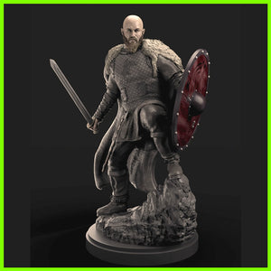 Ragnar Lothbrock Vikings - STL File for 3D Print - indymodel88
