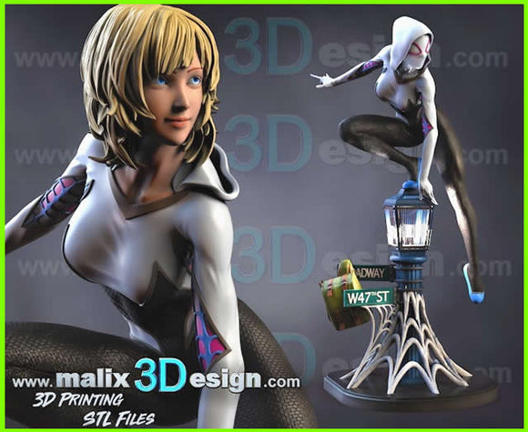 Gwen Stacy - STL File for 3D Print - indymodel88