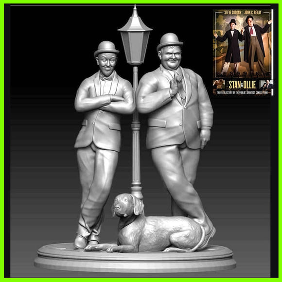 Stan and Ollie - STL File for 3D Print - indymodel88