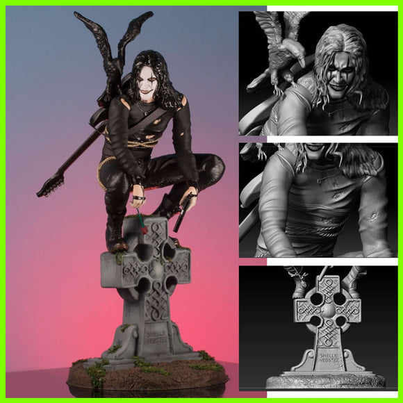 The Crow Brandon Lee - STL File for 3D Print - indymodel88