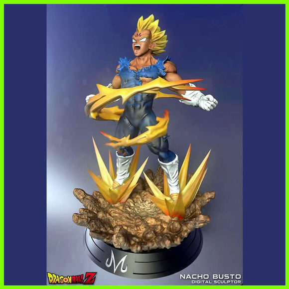 Vegeta Super Saiyan Dragon Ball Z - STL File for 3D Print - indymodel88