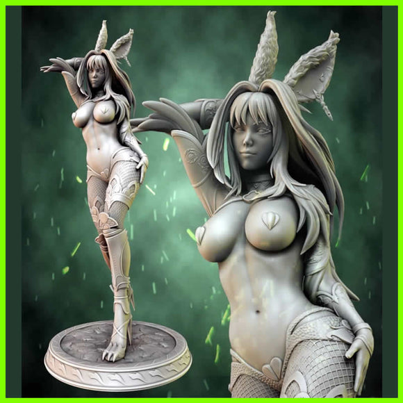 Viera Rabbit Final Fantasy - STL File for 3D Print - indymodel88