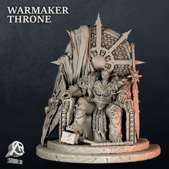 Warmaker Throne - STL File for 3D Print - indymodel88