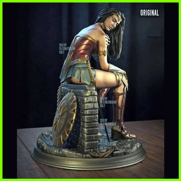 Wonder Woman WW84 Statue - STL File for 3D Print - indymodel88