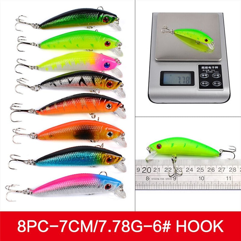 56Pcs/lot Almighty Mixed Fishing Lure Bait Set