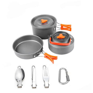 Camping Cookware Set with utensils