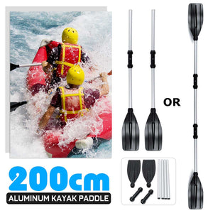 2 Pcs Detachable Boat Oars