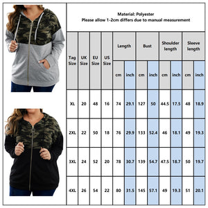 Plus Size Basic Womens  Sweatshirt Overcoat D25