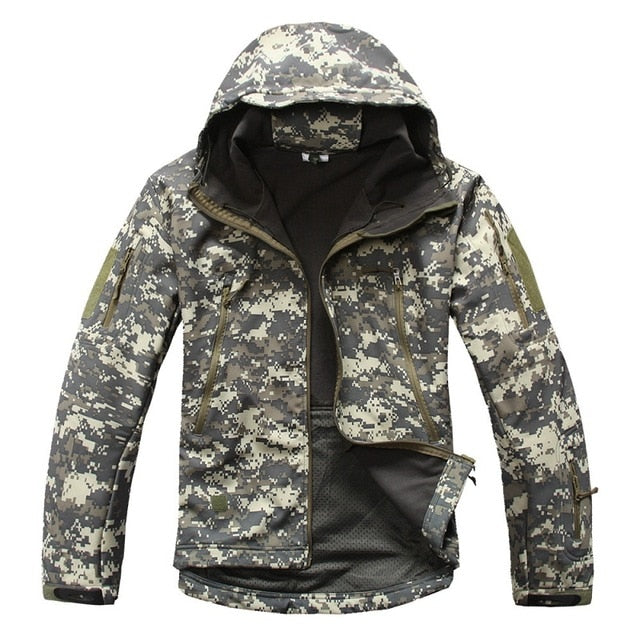 TACVASEN Army Tactlcal Water Wind Proof and Jacket