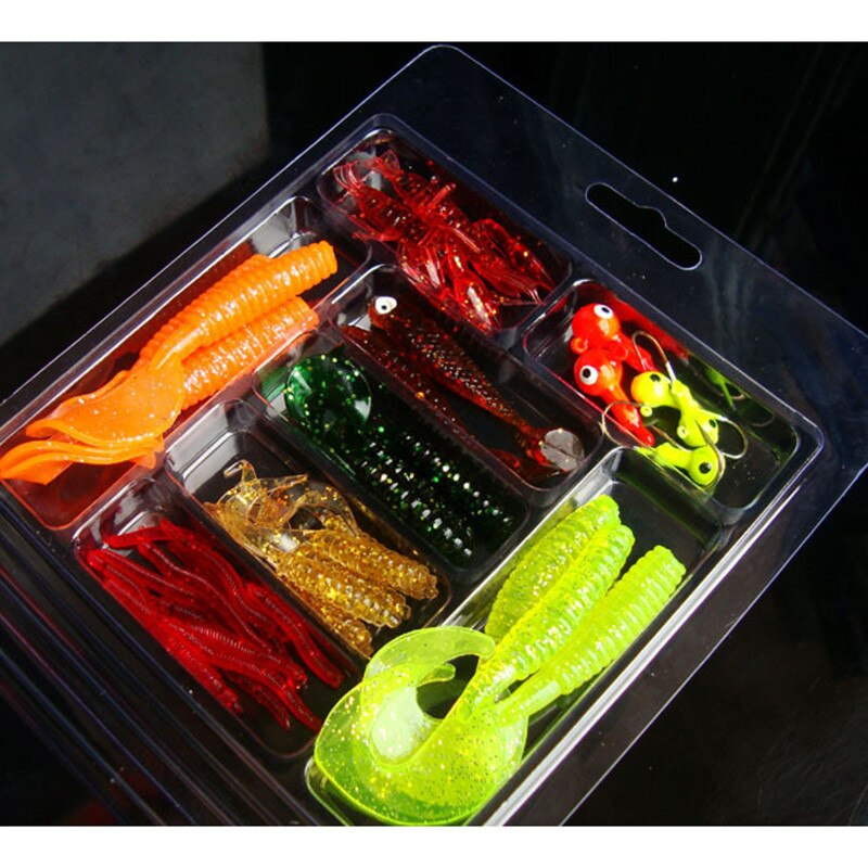 33Pcs Soft Worm Lure, Set