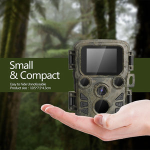 Mini Trail Camera Hunting Game 12MP 1080P Outdoor Wildlife Scouting Camera with PIR Sensor 0.45s Fast Trigger IP66 Waterproof