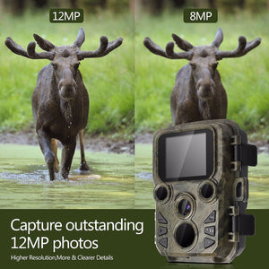 Mini 300 Hunting Trail Cameras 12MP 1080P Night Vision 0.45s Trigger Time Photo Trap Wildlife Chasse Camera Surveillance Cams