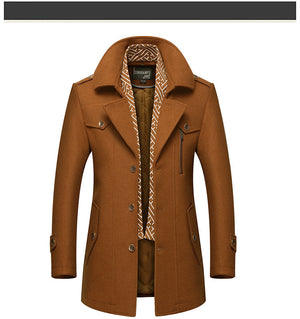 BOLUBAO Men Winter Wool  Overcoat