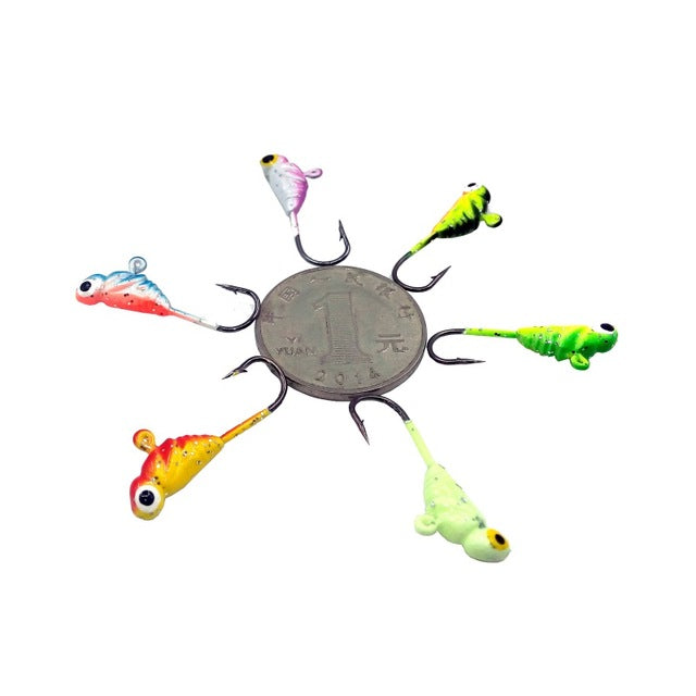 6PCS/Lot Winter Ice Fishing Hook Lures