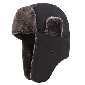Men Women Bomber Hats Lace Trapper Hat Winter Warm Thicken Wool Snow Cap Earflaps Russian Trooper Hat #3