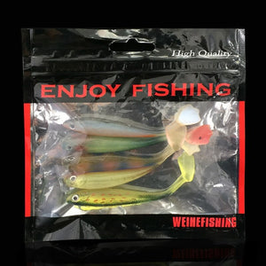 5pcs/lot Soft Wobblers Fishing Lure Silicone Double Swimbaits
