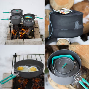BLACKDEER Outdoor  Alumina Folding Cookware Set