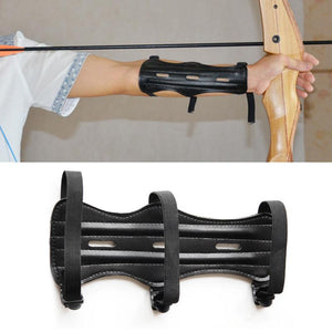 High Quality Leather Adjustable Archery  3 Strap  Arm Guard Protector