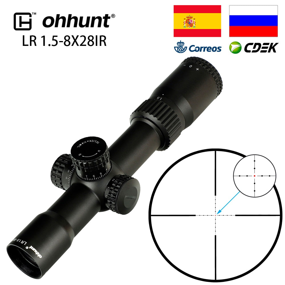 ohhunt LR 1.5-8X28 IR Compact Hunting Scope