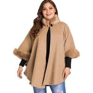 5XL Plus Size Jacket  Winter Casual Coat Women Fur Collar Streetwear chaqueta D25
