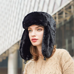 Unisex Winter Warm Earflap Trapper Russian Hat