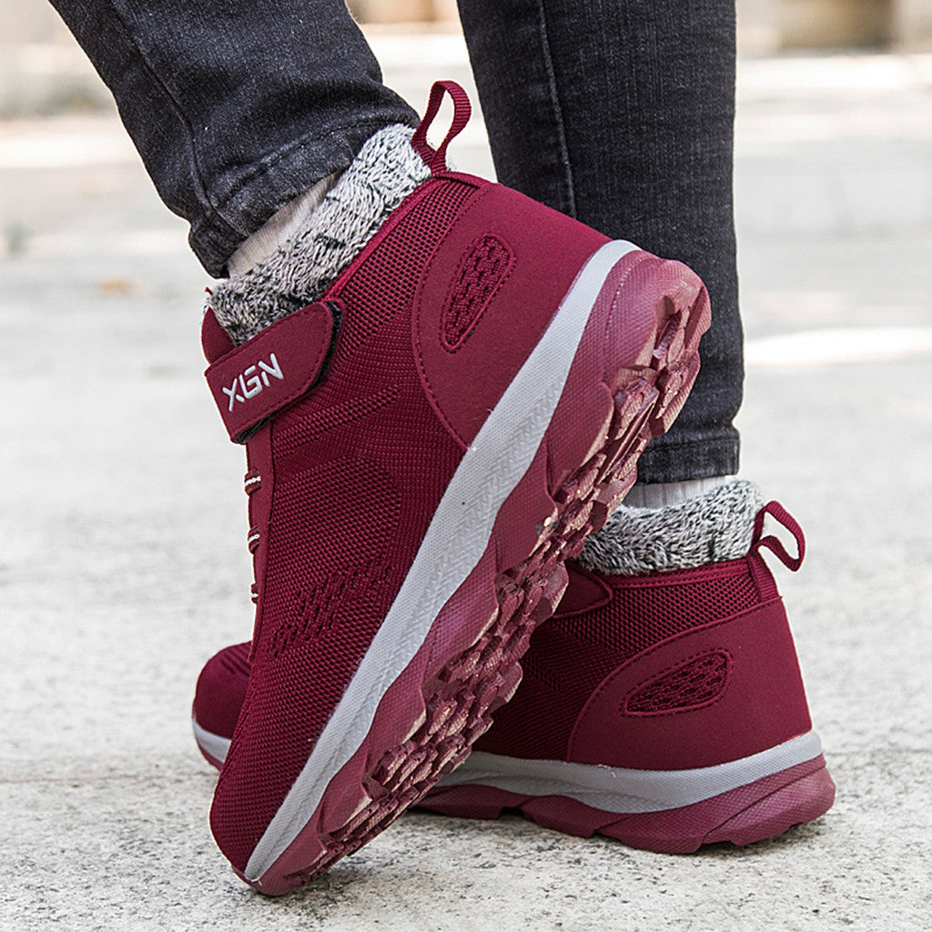 plush womens mountain climbing  sneakers